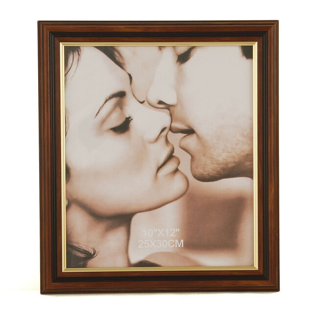 Brown & Gold Photo Frame 10x12""