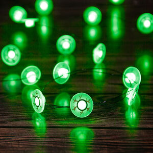 Halloween 20 Green Eyeball Lights
