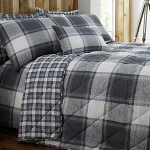 Jack Charcoal Bedspread 200cm x 220cm
