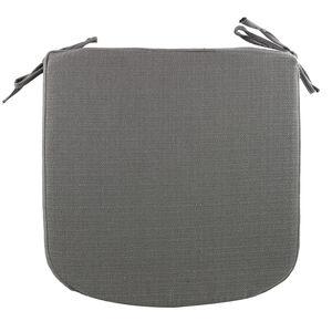 Woven Charcoal Kitchen Seat Pad