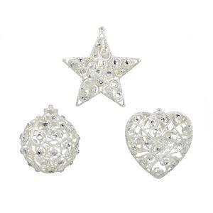 Jewel Shapes Tree Ornament Silver