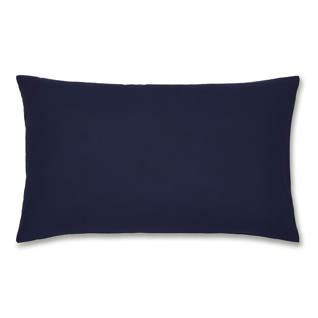 Luxury Percale Housewife Pillowcase Pair - Navy