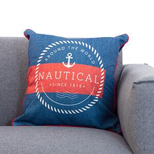 Anchor Cushion 45x45cm - Navy/Red