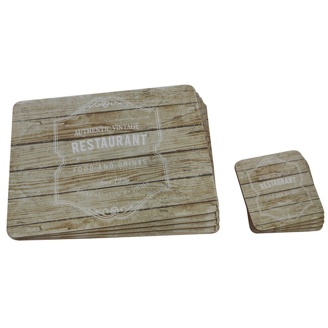 Authentic Vintage Mats & Coasters 4 Pack