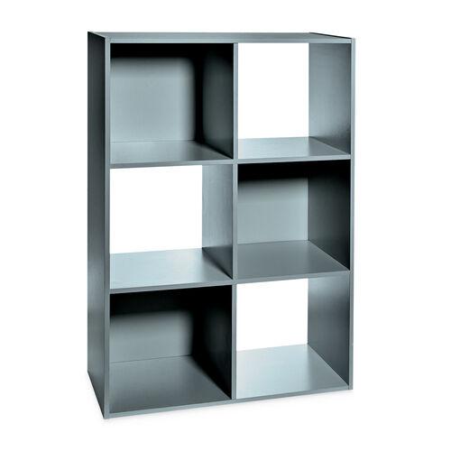 Rubix Shelf Organiser 6 Cube - Grey