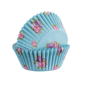 60 Floral Cupcake Cases