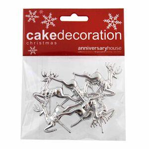 Reindeer Cake Picks - Silver