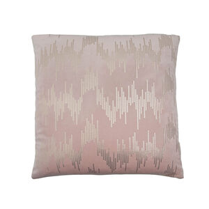 Sequin Velvet Cushion 45x45cm - Pink