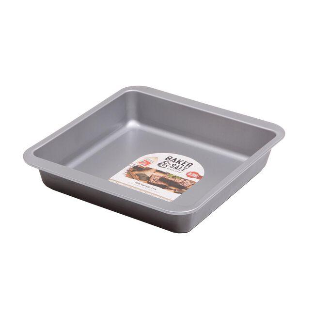 Baker & Salt Silver Brownie Tin 23cm