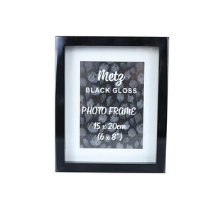 Metz Black Gloss Photo Frame 6x8""