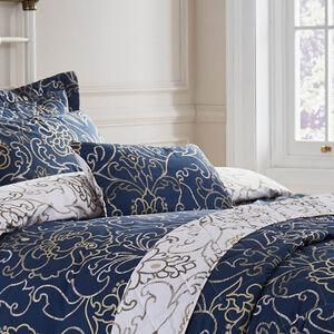 Antoinette Navy Cushion 30x50cm