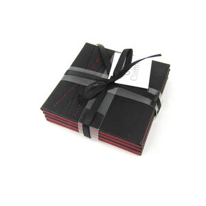 Reversible Black & Red Diamond Coasters 4 Pack