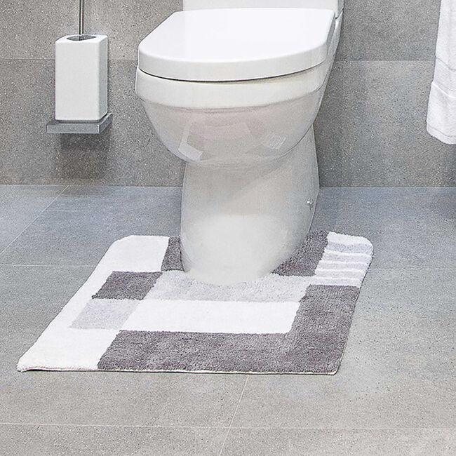 Boxes Grey Pedestal Mat 50 x 50cm