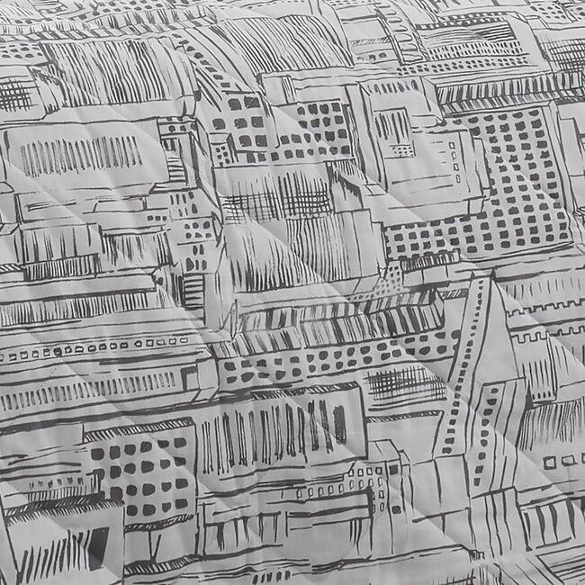 City Sketch Bedspread 200x220cm - Grey