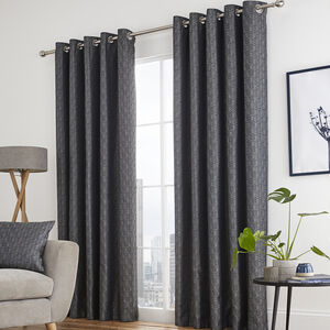 ARMADILLO SCALE NAVY 66x54 Curtain