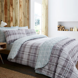 KING DUVET COVER Brushed Cotton Donoghue Check