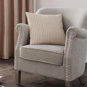 Velvet Pleat Natural Cushion 45cm x 45cm