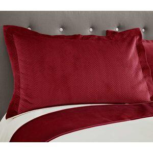 Ribeiro Velvet Pillowshams Red 50 x 75cm