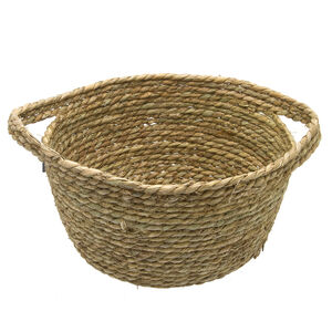 Medium Seagrass Basket 32cm w/Wrapped Handle