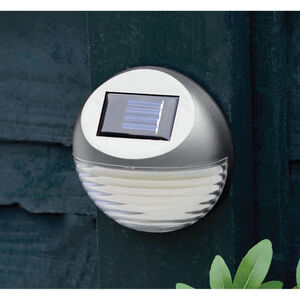 Silver Fence Solar Light