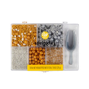 Wilton Sprinkles 5 Metallc Tackle Box