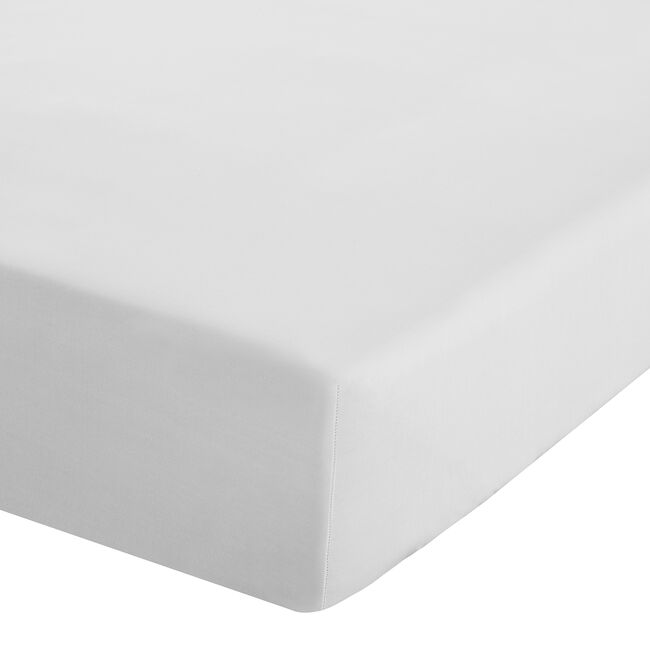 DOUBLE FITTED SHEET Luxury Percale White
