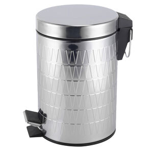 Triangle Embossed Pedal Bin Stainless Steel 3L