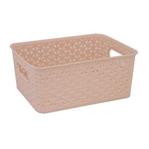 Geometric 4L Blush Basket