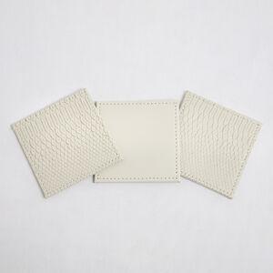Reversible Croc Coasters - Cream 4PK
