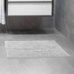 Cotton Brick Bath Mat Dove Grey