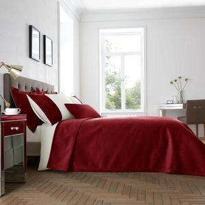 Ribeiro Velvet Bedspread Red 200 x 220cm