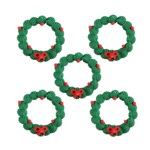 Mini Wreath Icing Cake Toppers
