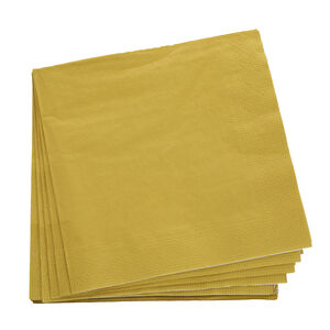 Plain Gold Napkins 20 Pack