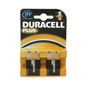 Duracell Plus 9V Batteries 2 Pack