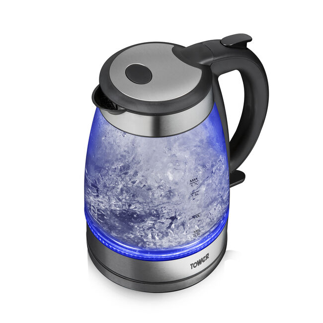 Tower Illuminating Glass Kettle 1.7L