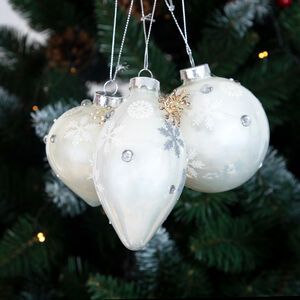 Silver Pearl Christmas Tree Decorations