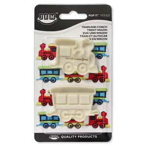 JEM Train and Coach Pop It Moulds Set of 2