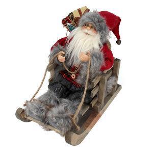 Santa on Sleigh - 27cm
