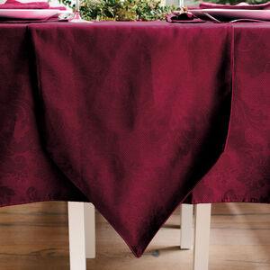Textured Damask Burgundy Table Runner 229x36cm