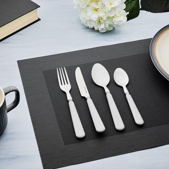 Master Cutler 16 Piece Cutlery Set - Grey