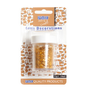 PME Edible Glitter Flakes 7.1g - Gold