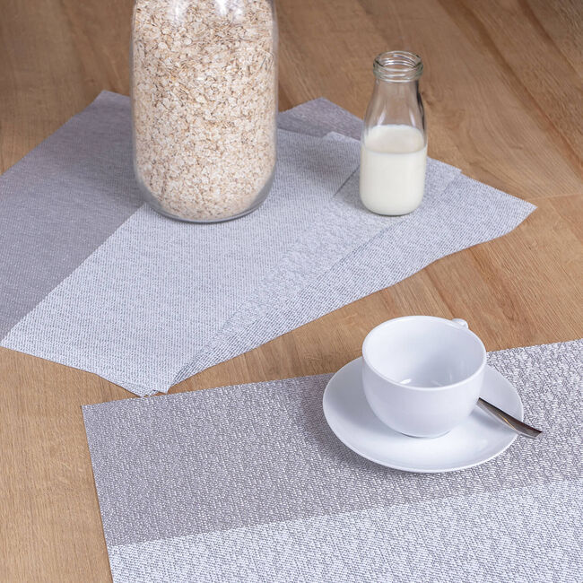 Blocks Placemat - Silver