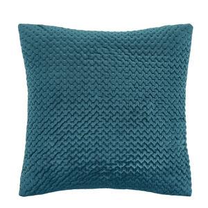 Velour Stitch Cushion 58x58cm - Green