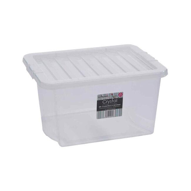 Crystal Box & Lid Clear 30L