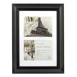 Simply Black Photo Frame Duo 7x5""