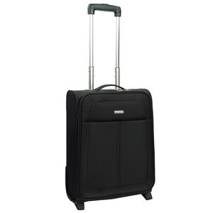 Cabin Size Black Lightweight Suitcase