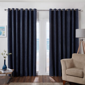 BLACKOUT & THERMAL BASKETWEAVE NAVY 66x54 Curtain