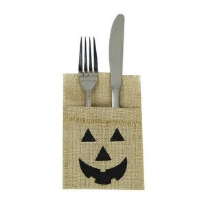Halloween Pumpkin 4Pk Cutlery Holder