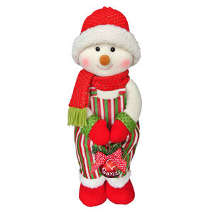 Standing Snowman with Christmas Bauble