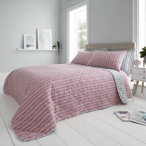 Kylo Bedspread 200x220cm - Duck Egg/Pink